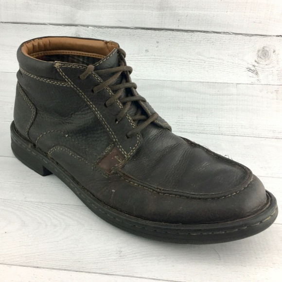 Clarks HOMMIE Mens Sz 10 Ankle Lace Up Boot Loafer